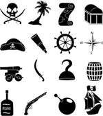 Pirates icons set — Stock Vector