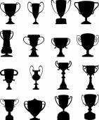 Trophy icons set — Stock Vector