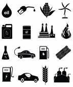 Bio fuel icons set — Stock Vector