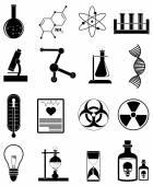 Chemistry icons set — Stock Vector