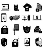 Data protection icons set — Stock Vector