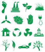 Ecology icons set — Stock Vector