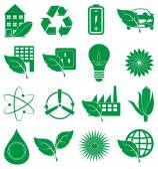 Set di icone di ecologia — Vettoriale Stock