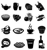 Healthy eating icons set — Stock Vector