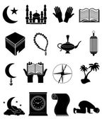 Islam icons set — Stock Vector