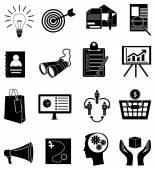 Marketeers icons set — Stock Vector