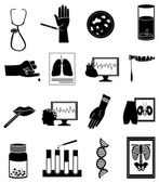 Medical tests icons set — Stock Vector