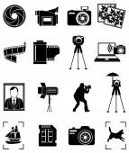 Photography icons set — Stock Vector