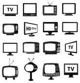 Retro tv icons set — Stock Vector