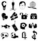 Business strategy icons set — Stock Vector