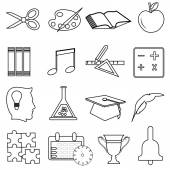 Education line icons set — Stock Vector