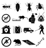 Exterminators icons set — Stock Vector