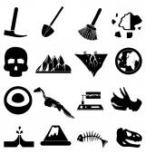 Geology icons set — Stock Vector