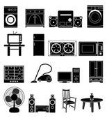 Home appliances icons set — Stock Vector