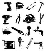 Industrial tools icons set — Stock Vector