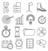 Productivity line icons set — Stock Vector
