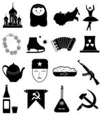 Russia icons set — Vettoriale Stock