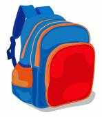 School bag pack — Stock Vector