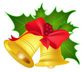 Jingle bells and leaves — Stock Vector