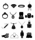 Conjunto de iconos de joyería — Vector de stock