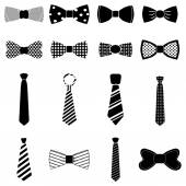 Bow Tie icons set — Stock Vector