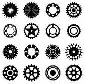 Gear wheels icons set — Stock Vector
