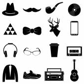 Hipster icons set — Stockvector