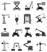Zware werk machines icons set — Stockvector