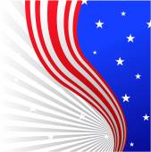 Patriotic american flag — Stock Vector