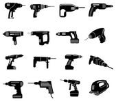 Power tools icons set — Stock Vector