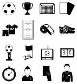 Soccer football icons set — Stock Vector