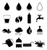 Water icons set — Stock Vector