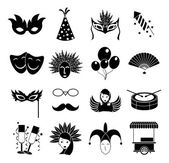 Carnival icons set — Stock Vector
