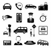 Taxi service icons set — Stock Vector