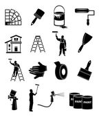 House painter icons — Stock Vector