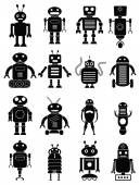 Abstract robots icons set — Stock Vector