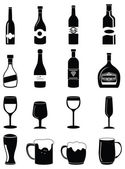 Alchohol drinks icons set — Stock Vector
