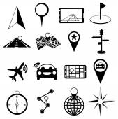 Location icons set — Stock Vector