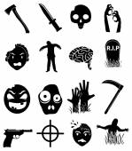Zombies icons set — Stock Vector