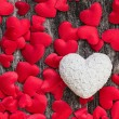Valentines day red hearts background — Stock Photo #61918319