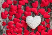 Fondo rosso dei cuori di San Valentino — Foto Stock