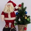 Funny Christmas Santa Claus — Stock Photo #58145595