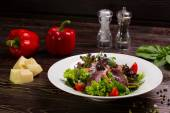 Salad with meat. — Stock Photo