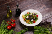 Salad with salmon fillet. — Stock Photo