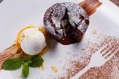 Chocolate fondant. — Stock Photo