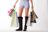 A lot of shopping. — Stock Photo