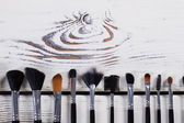 Many different brush for face. — Stock Photo