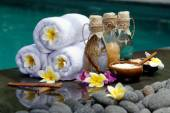 At the Spa, concept in a luxury Villa on Bali Island — Stock Photo