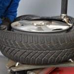 Tire change — Stock Photo #56643761