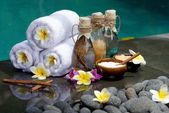 At the Spa in Villa on Bali Island — Stock Photo